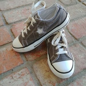 Converse One Star grey canvas kids Size 1